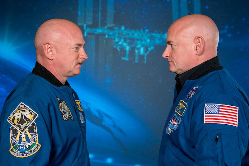 The epigenomes of twins Mark and Scott Kelly were examined during the NASA Twins Study.