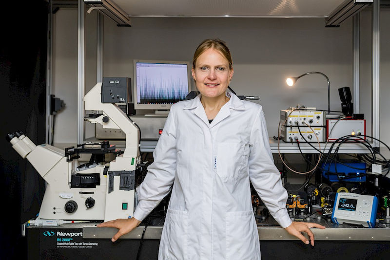 Maria Ott in the lab at the Institute of Biochemistry and Biotechnology